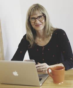 Maureen Kerr at computer